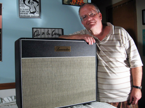 Dave Lancaster leans on awesome amp. Saves child's life. News at 11.